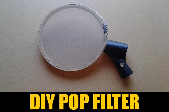 how to make a diy pop filter beatmakerlab